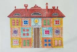 Miller gabriella - house 18 x 22 cm watercolor on paper