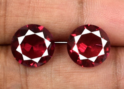 6.75 Ct Natural Burmese Ruby Gemstone Pair