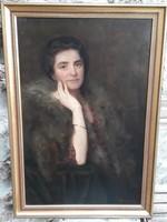 Caesar Kunwald: art deco female portrait