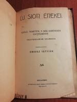 Új Sion énekei- judaika könyv