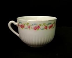 Antique rose garland porcelain tea cup