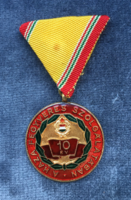 10 years in the armed service of the homeland is a socialist honor