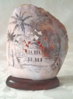 Beautiful old carved shell