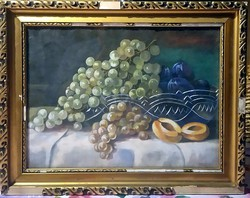 1937, marked, flawless still life - with a glass plate, in its original frame
