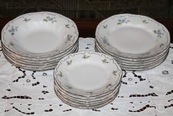 Zsolnay barackvirág mintás tányérkészlet 18 db