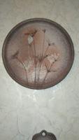 Ceramic wall ornament by m kiss katalin