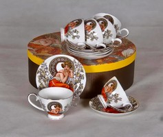 Mucha tea set