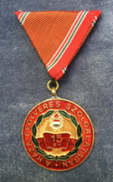 15 years in the armed service of the homeland is a socialist honor