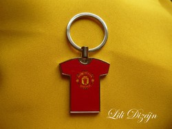 Manchester united jersey shaped metal keychain