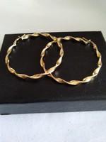 Gold-plated silver large hoop earrings