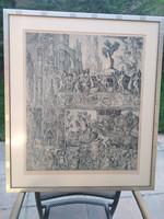 Szabó vladimir carousel etching for sale