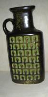 Op art  retro váza / Veb Haldensleben - 24 cm magas