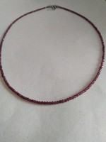 Beautiful faceted garnet stone necklace