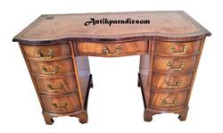 Antique English leather desk