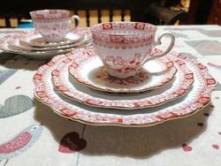 Gyűjtői szépségű és minőségű Seltmann Weiden szettek. Teáscsésze aljjal, süteményes és lapos tányér