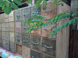Loft industrial file cabinet with 16 drawers 2 + 1 extra drawers