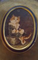 Vintage English bentley s of london the catz gallery bubbles bonbon metal box 1990 (cat, kitten)