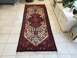Dreamy hand-knotted 80x200 wool persian rug kzm526 free post
