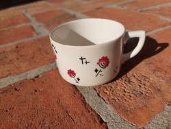 Kispest granite mug, rare pattern, undamaged collection piece, marked, numbered