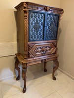 Beautiful, flawless baroque carved bar cabinet