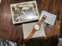 Pulsar quartz chronograph, ritka típus! Dobozában, gyűjteményes, szinte hordatlan! Fóliás hátlap!