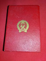 1950s excellent technical worker badge with award box as shown