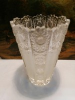 Polished crystal vase 17.5 cm, flawless