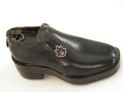 Mini leather shoe lighter keychain