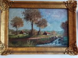 Gyönyörű, aprólékos szignózott festmény