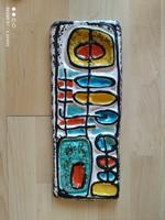 Karácsonyi Zsuzsa kerámia falikép