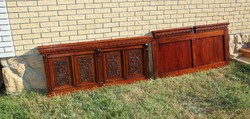 Old German carved French headboards 2 pcs.