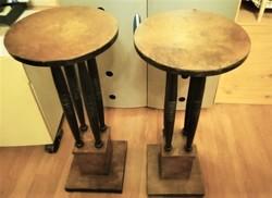 Retró fa asztal 2 darab