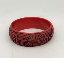 Old chinese cinnabar red bracelet bracelet china japanese asia