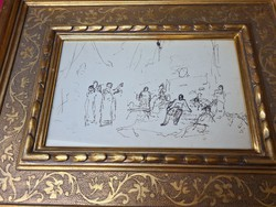 The very first sketch of Michael Munkácsy's painting entitled Conquest !!
