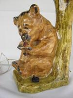 Teddy bear raspberry teddy bear with ceramic lantern
