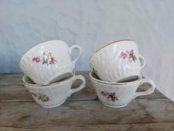 4 pcs granite mug from Kispest, cup, marked, undamaged, beautiful pieces