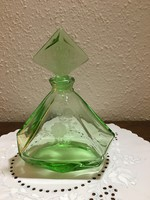 Green bottle of liqueur