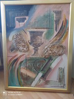 Huge modern flawless oil painting in a beautiful frame 112 x 88 cm