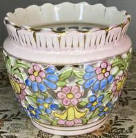 About one forint - antique, openwork, small fischer j. Porcelain pot