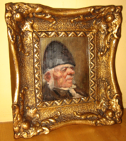 Quality at a gift price! Guaranteed original cashier ring jenő / 1875- / portrait