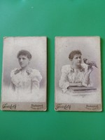 2 female portraits made in the studio of photographer István Goszleth for sale!