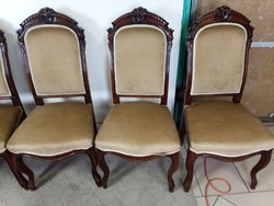 Barokk kárpitos székek 6 db