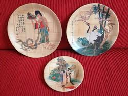 3 db keleti mintás bambusz tányér