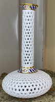 From one forint - antique fischer emil porcelain decorative vase or candle holder # 1
