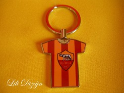 As roma jersey shaped metal keychain