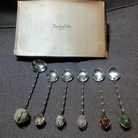 Barasch stainless steel teaspoons decorated with minerals