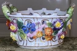 About one forint - antique royal wienna (alt wien) porcelain basket