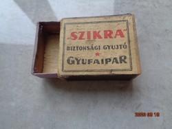 Szikra - antik gyufaskatulya