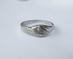 Elegant, patterned, stone silver ring - 1 ft auctions!