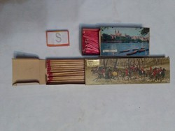Two big boxes of old matches - hunting, basel - family, fireplace matches